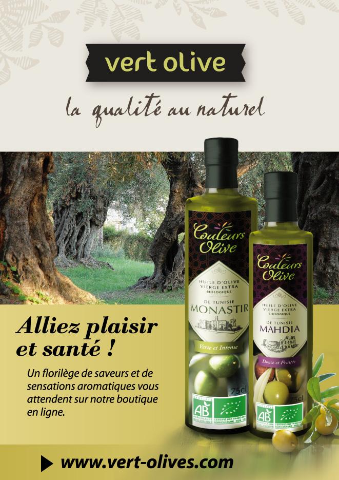 Plaquette présntation huile d'olive
