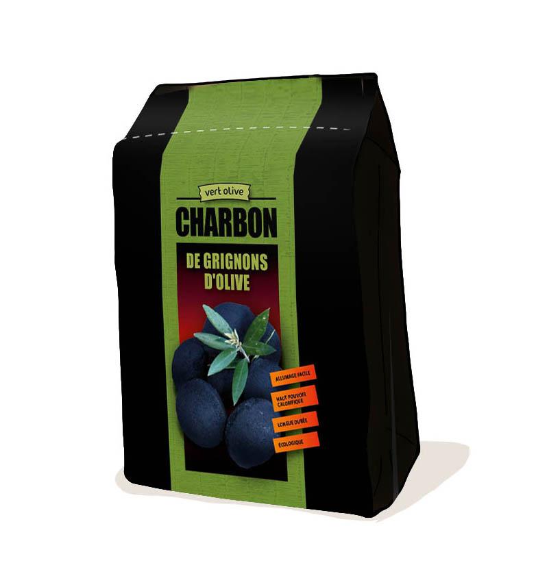 Packaging – Charbon de grignons d'olive