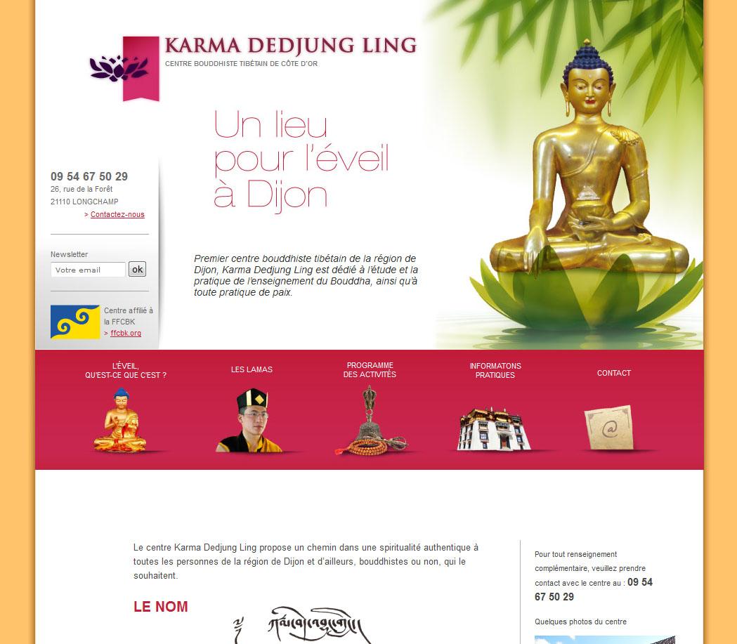 Site internet centre Bouddhiste de dijon